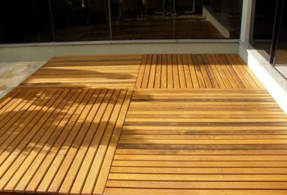 Deck de Garapeira  2cm x 10cm x 1,80m à 5,10m