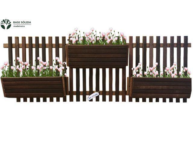 Floreira Vertical 3 flores