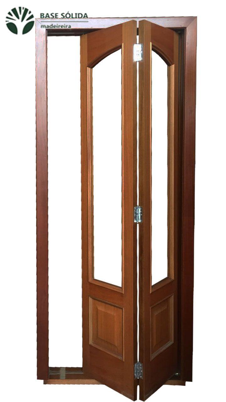 """Porta de Madeira maciça """"camarão"""" M3 com batente e vistas para os dois lados"""