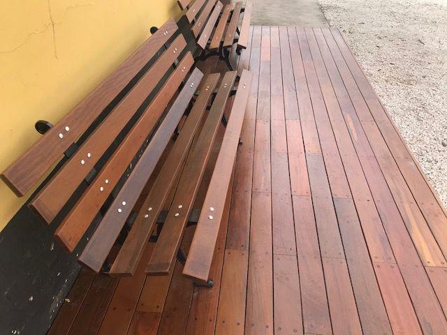 Promoção Deck de IPÊ EXTRA 2cm x 10cm x 95cm à 1,55m INSTALADO