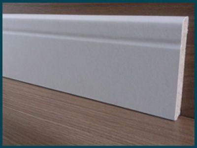 Rodapé Branco 10cm de altura Frisado