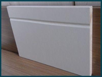 Rodapé Branco 20cm de altura Frisado