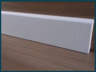 Rodapé Branco 7cm de altura Liso
