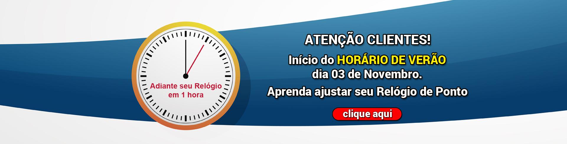 HORÁRIO VERÃO