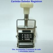 Carimbo Datador Retangular RG-B2 - 3mm