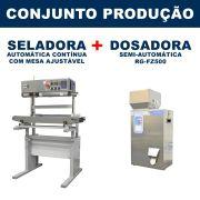 Dosadora e Seladora Automática (RG-FZ500 - RG-1000 vertical com mesa)