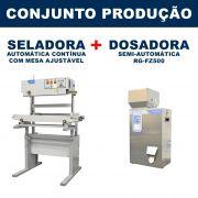 Dosadora e Seladora Automática (RG-FZ500 - RG-900A vertical com mesa)