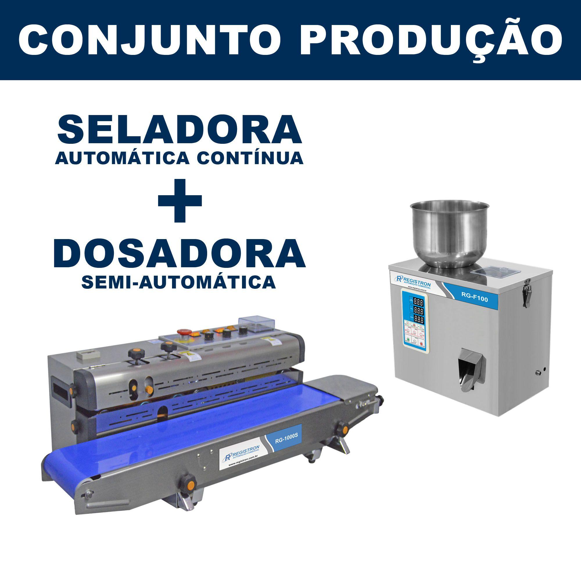 Dosadora e Seladora Automática (RG-F100 - RG-1000S)