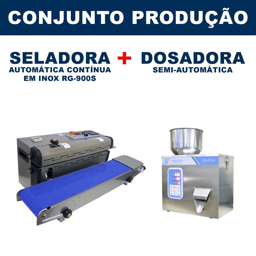 Dosadora e Seladora Automática (RG-F100 - RG-900S)