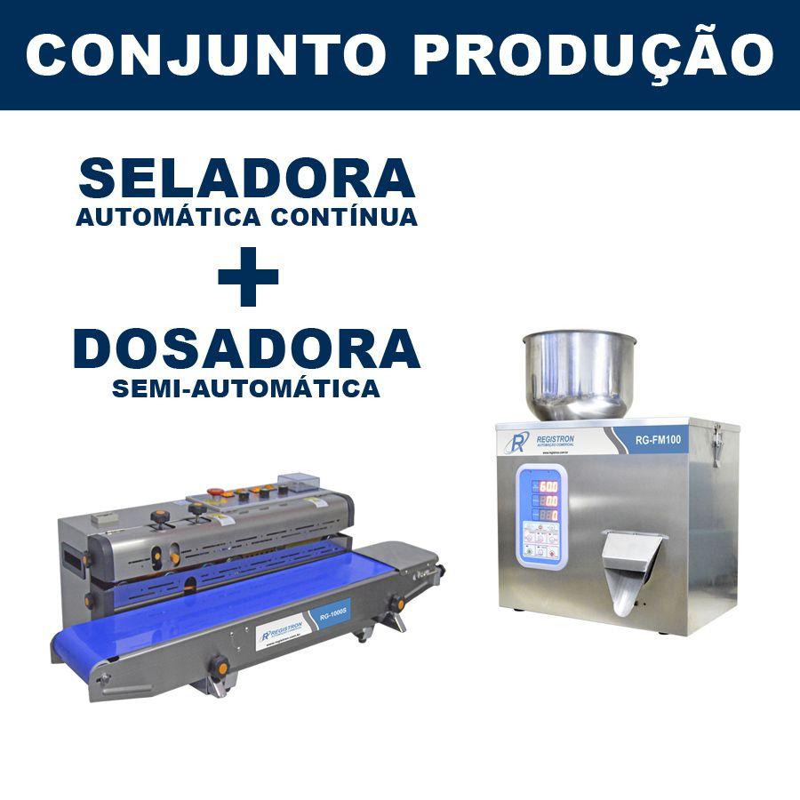 Dosadora e Seladora Automática (RG-FM100 - RG-1000S)