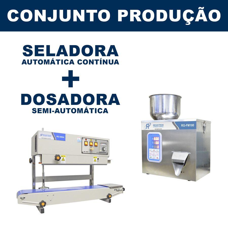 Dosadora e Seladora Automática (RG-FM100 - RG-900A vertical)