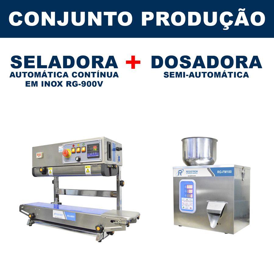 Dosadora e Seladora Automática (RG-FM100 - RG-900V)