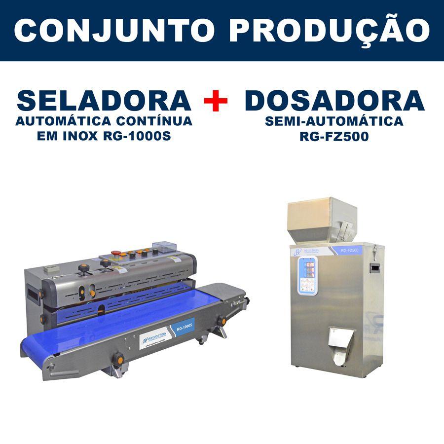 Dosadora e Seladora Automática (RG-FM500 - RG-1000S)