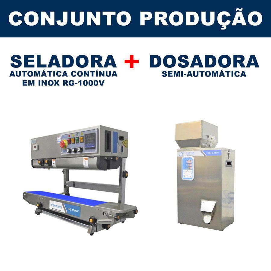 Dosadora e Seladora Automática (RG-FM500 - RG-1000V)