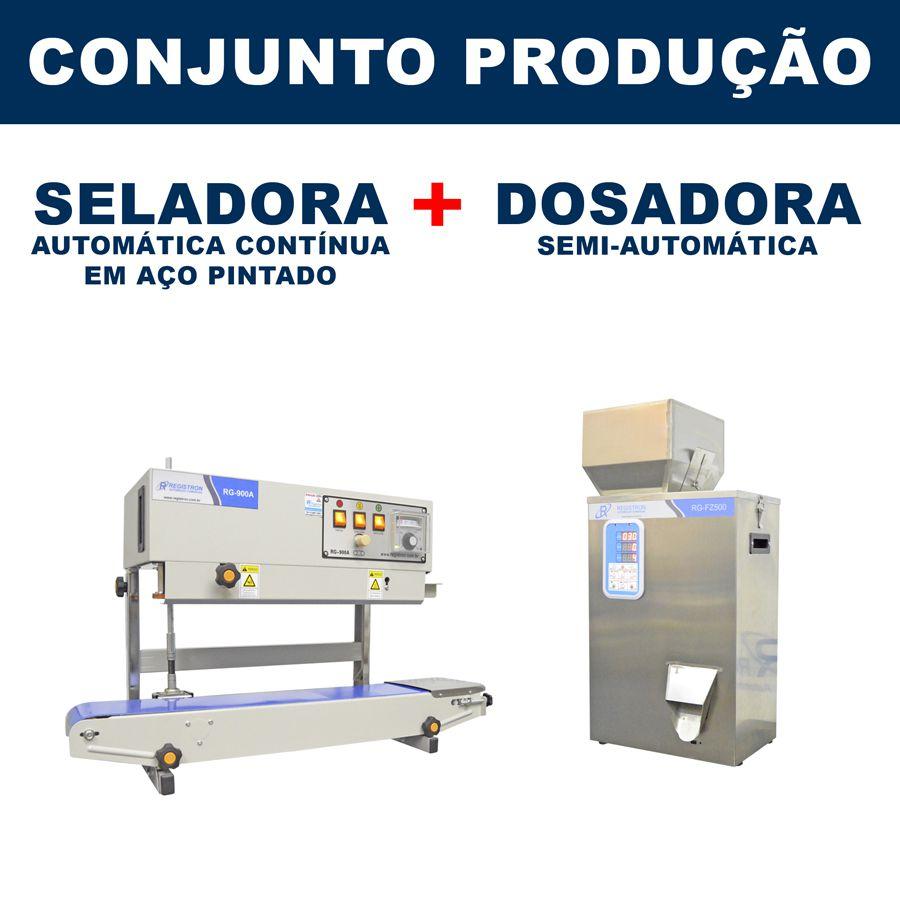 Dosadora e Seladora Automática (RG-FM500 - RG-900A vertical)
