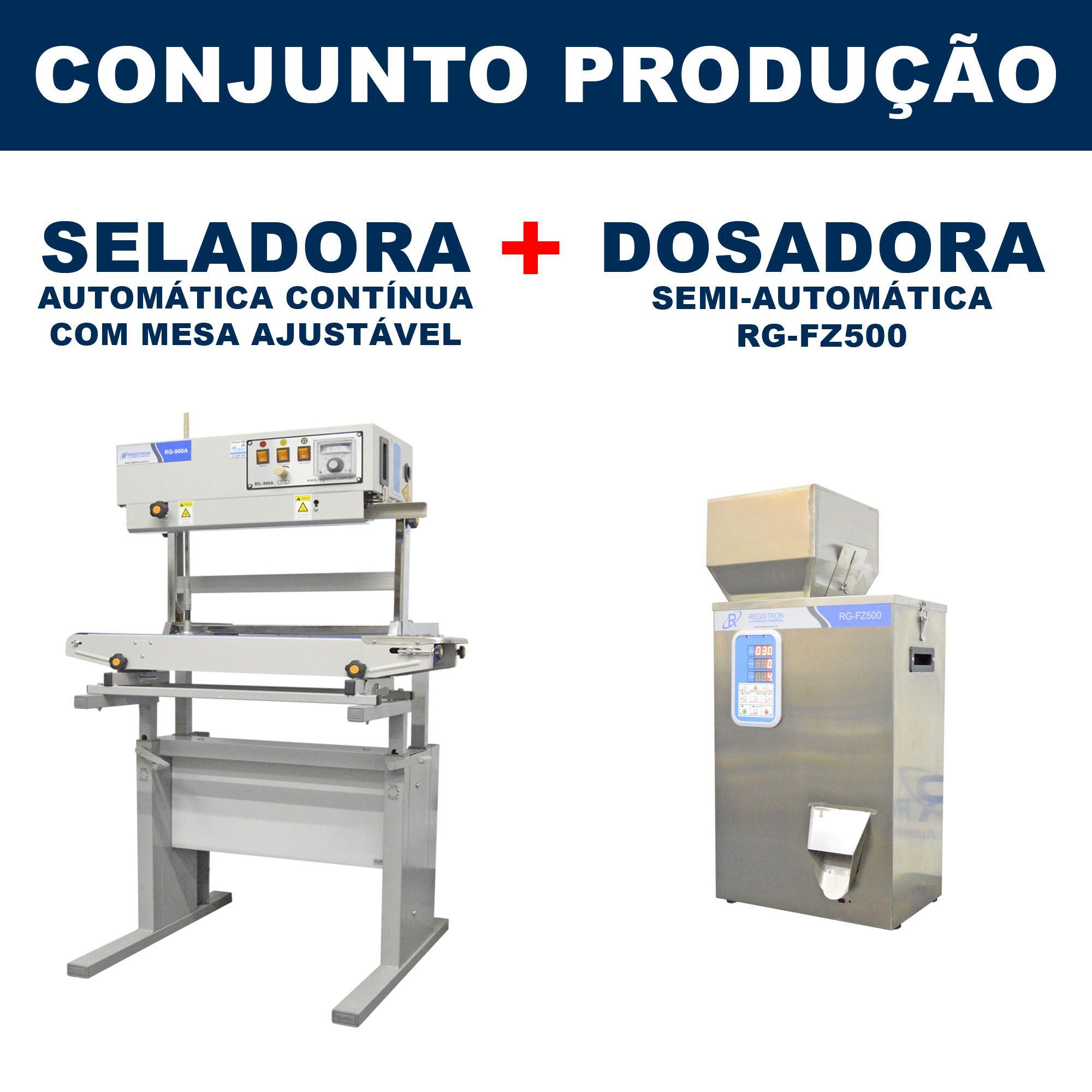 Dosadora e Seladora Automática (RG-FM500 - RG-900A vertical com mesa)