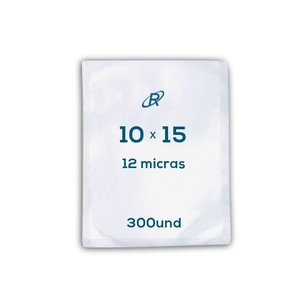 Embalagens a Vácuo lisa 10x15x12 - 300 und