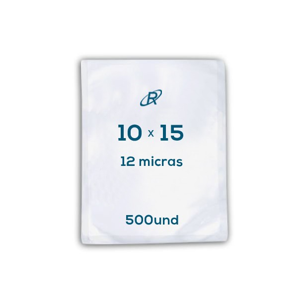 Embalagens a Vácuo lisa 10x15x12 - 500 und