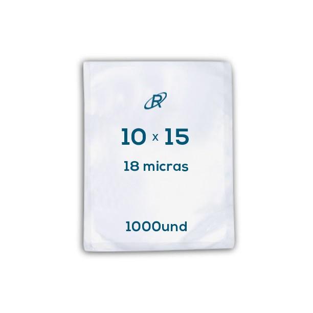 Embalagens a Vácuo lisa 10x15x18 - 1000 und