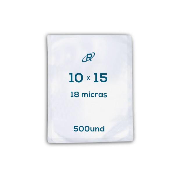 Embalagens a Vácuo lisa 10x15x18 - 500 und