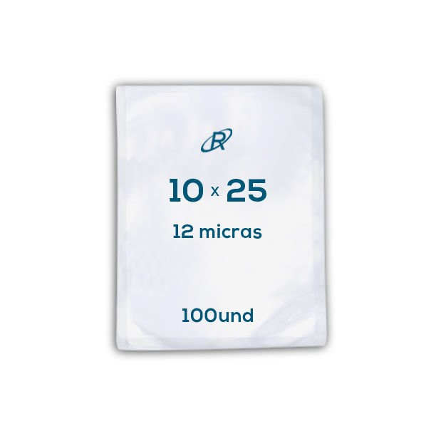 Embalagens a Vácuo lisa 10x25x12 - 100 und