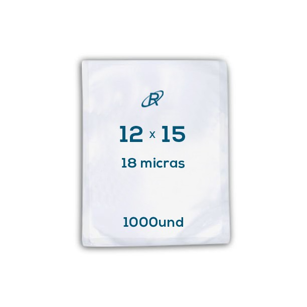 Embalagens a Vácuo lisa 12x15x18 - 1000 und