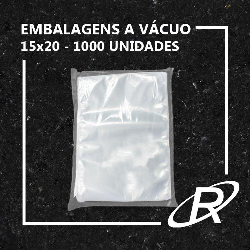 Embalagens a Vácuo lisa 15x20x12 - 1000 und