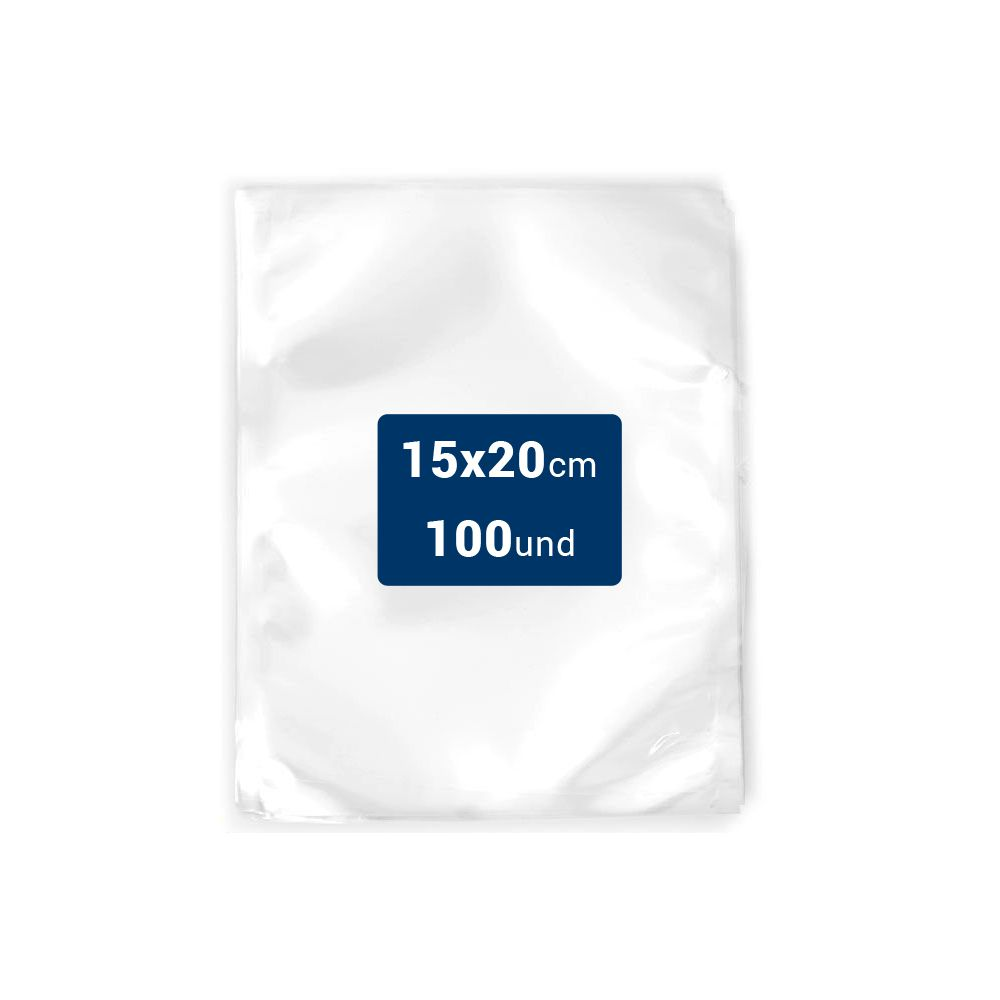 Embalagens a Vácuo lisa 15x20x12 - 100 und