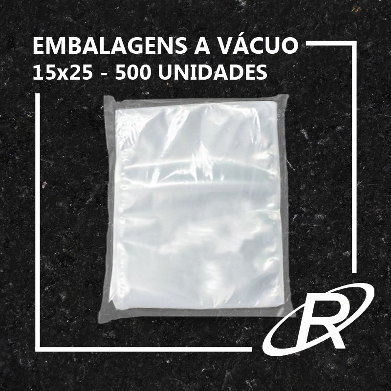 Embalagens a Vácuo lisa 15x25x12 - 500 und