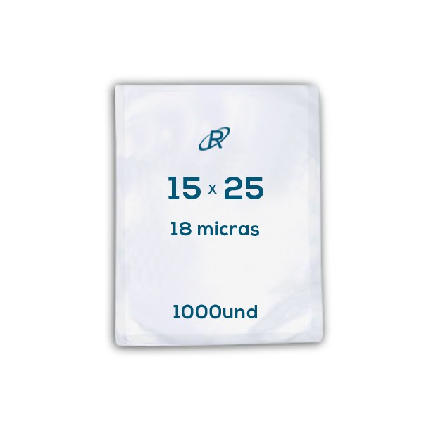 Embalagens a Vácuo lisa 15x25x18 - 1000 und