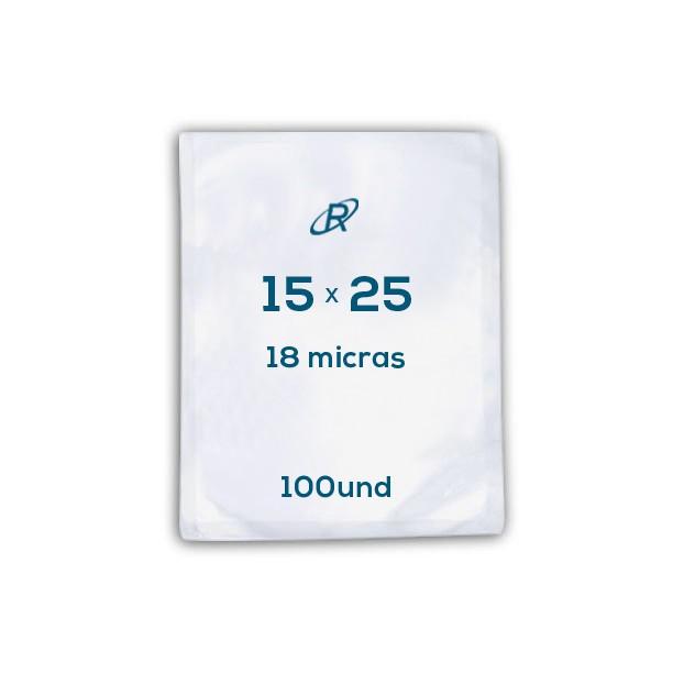 Embalagens a Vácuo lisa 15x25x18 - 100 und