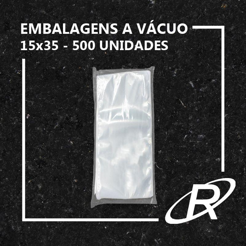 Embalagens a Vácuo lisa 15x35x12 - 500 und