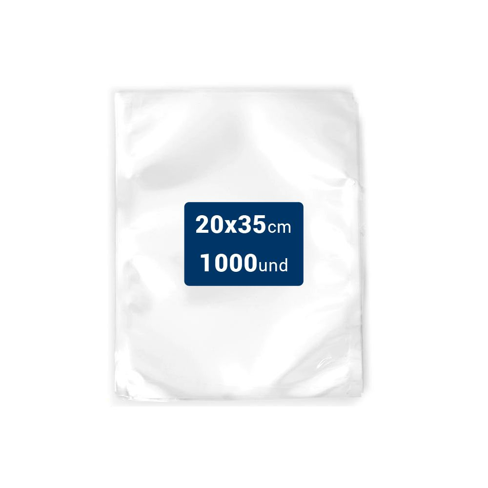 Embalagens a Vácuo lisa 20x35x12 - 1000 und