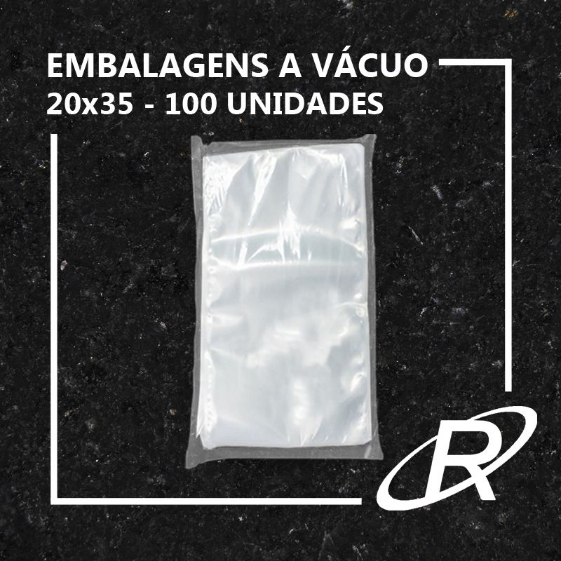 Embalagens a Vácuo lisa 20x35x12 - 100 und