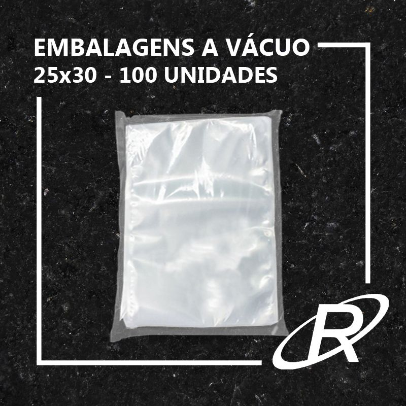 Embalagens a Vácuo lisa 25x30x12 - 100 und