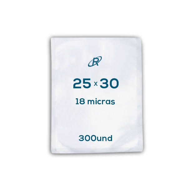 Embalagens a Vácuo lisa 25x30x18 - 300 und