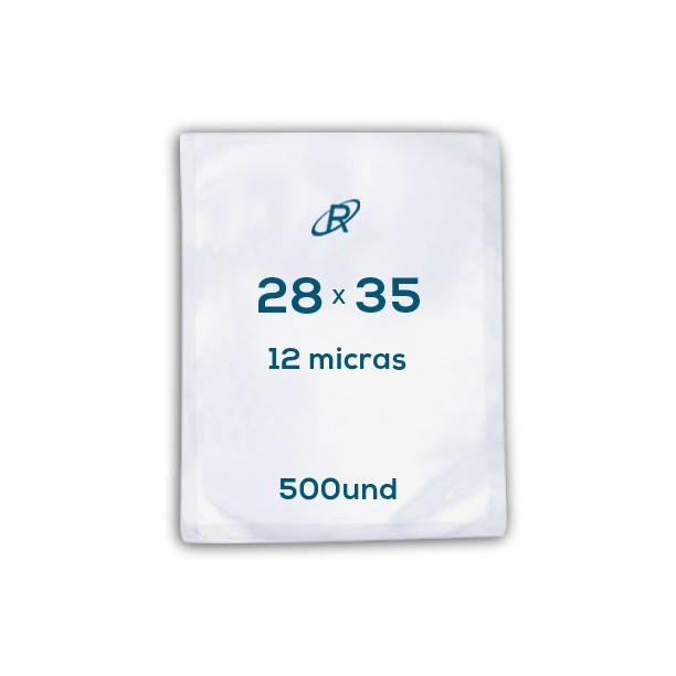 Embalagens a Vácuo lisa 28x35x12 - 500 und