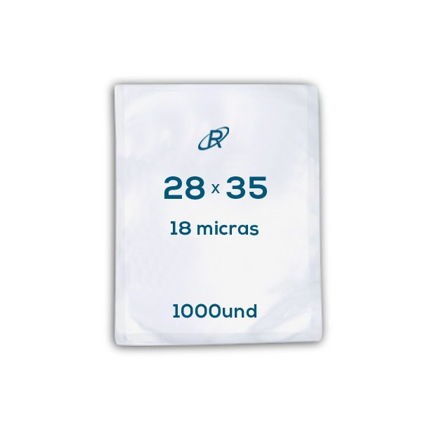 Embalagens a Vácuo lisa 28x35x18 - 1000 und