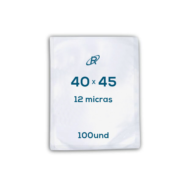 Embalagens a Vácuo lisa 40x45x12 - 100 und