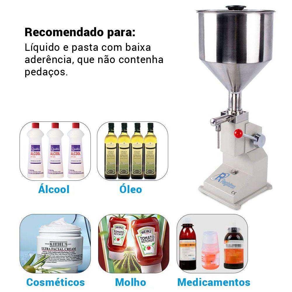 Envasadora Manual Álcool em Gel RG-A03