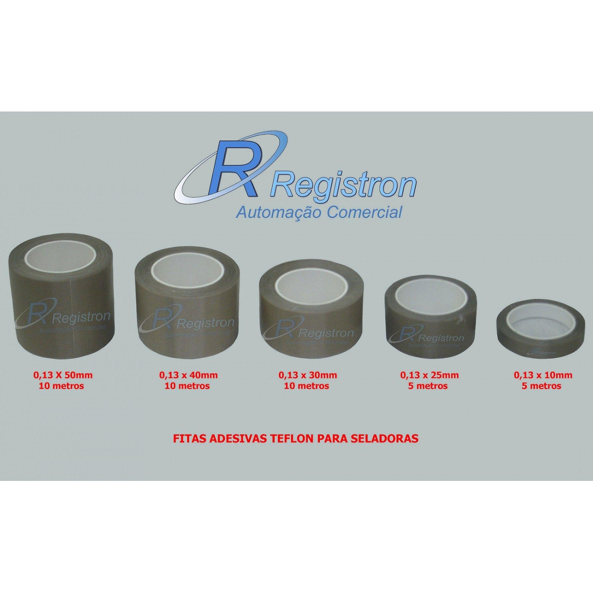 Fita Adesiva Teflon Para Seladoras 10mm - Rolo com 5 metros