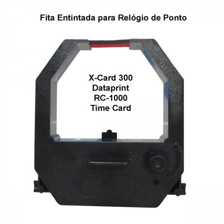 Fita para Relógio de Ponto X-CARD 300 / TIME CARD / RC-1000 / DATAPRINT