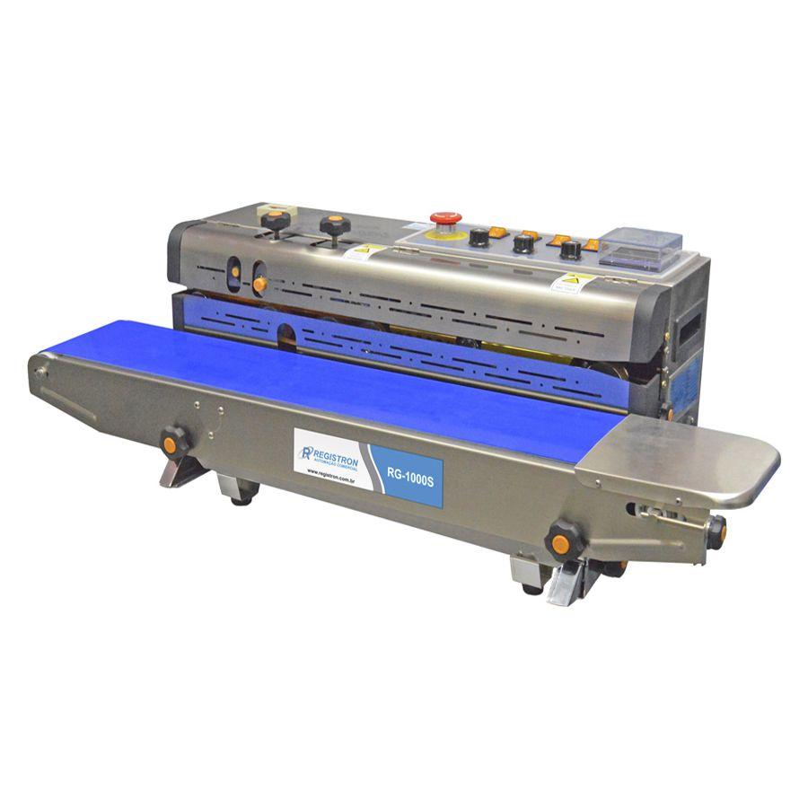 Seladora Automática Contínua Horizontal Com Datador Em Inox RG-1000S