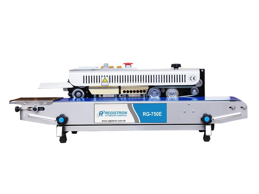 Seladora Automática Contínua Horizontal Em Inox RG-750E - (Esquerda)