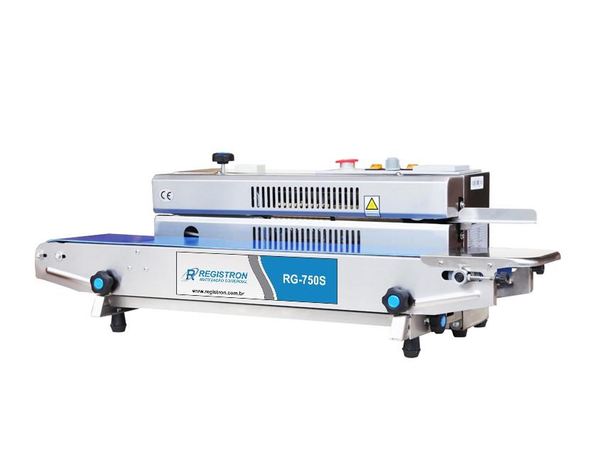 Seladora Automática Contínua Horizontal Em Inox RG-750S