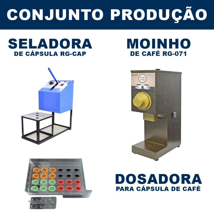 Seladora de Cápsula + Moinho de Café + Dosadora (RG-CAP + RG-071)