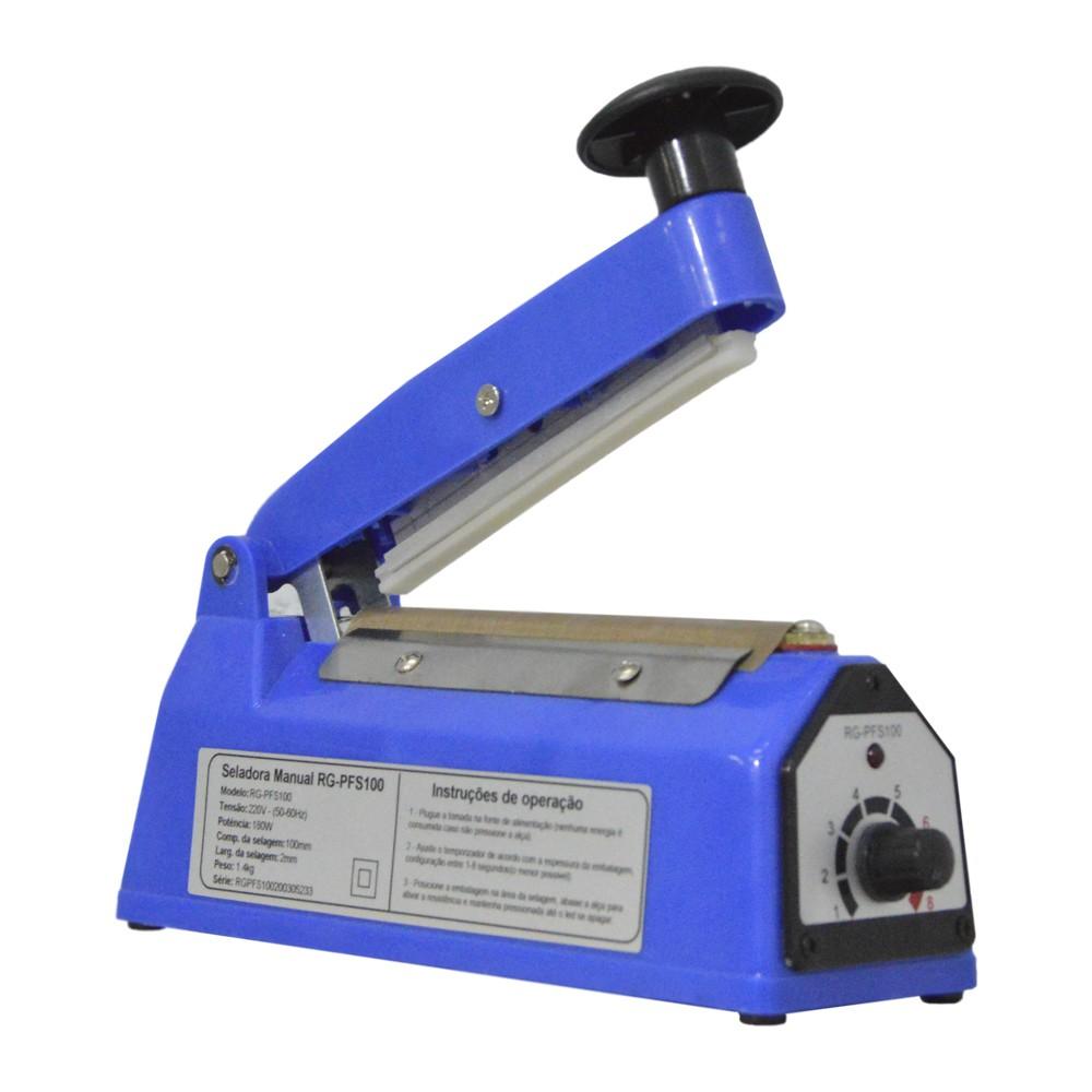 Seladora de Embalagem Manual 10 cm modelo RG-PFS100 - 110V