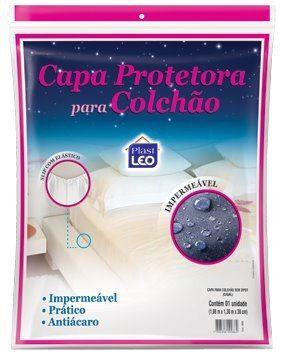 01 Protetor Colchão Casal Impermeável + 04 Capas Travesseiro
