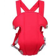 Canguru Porta Bebê Bolsa até 15kg Com 3 Posições Vermelho