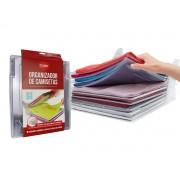 Kit 10 Organizador De Camisetas Roupas Tipo Arquivo Plástico
